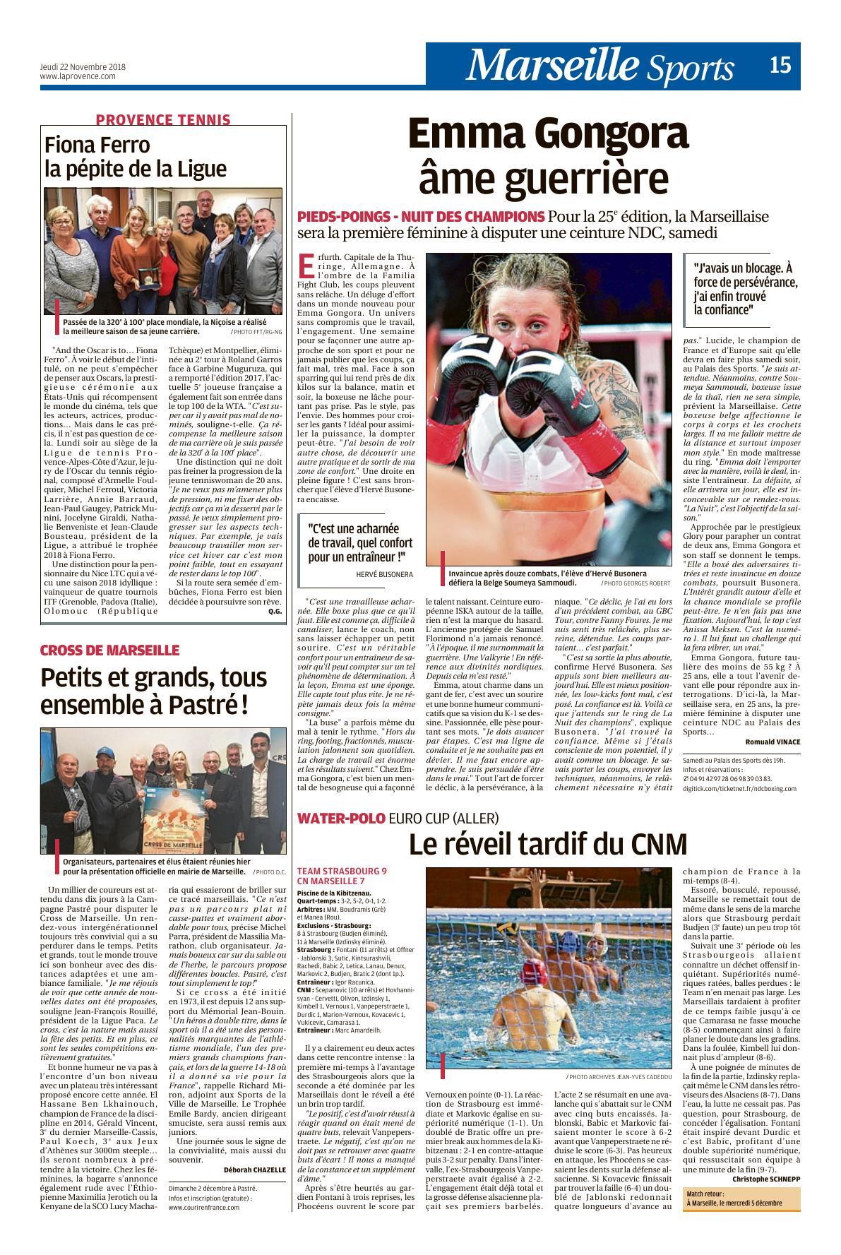 CNM La Provence Novembre 2018