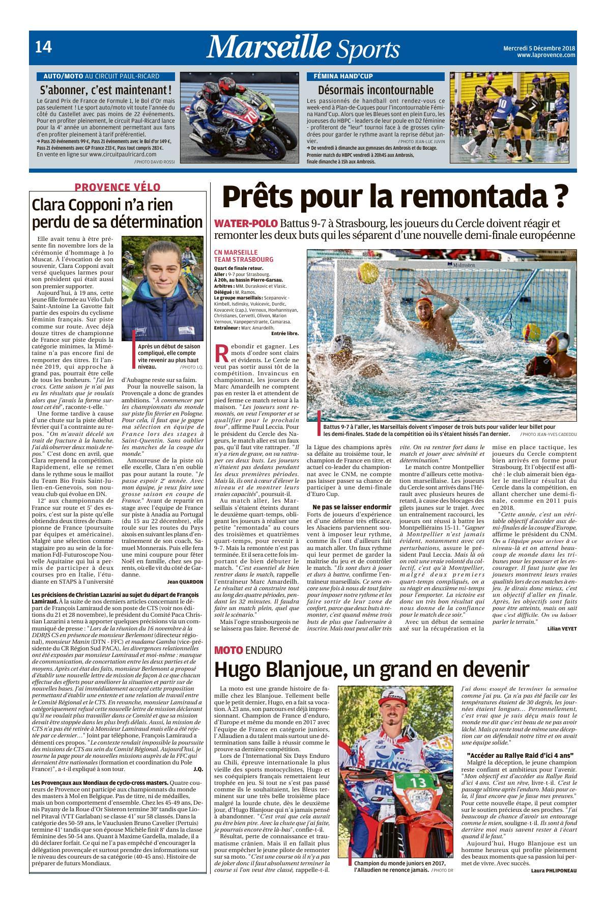 CNM La Provence Décembre 2018